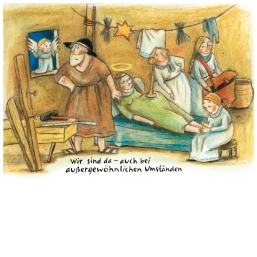 """Weihnachtskarte """"Außergewöhnliche Umstände"""""""