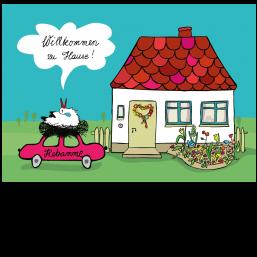 Zu Hause willkommen zu hause