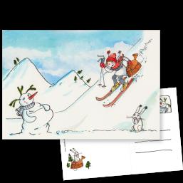 """Postkarte """"Schneekönigin"""""""