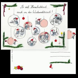 """Weihnachtskarte """"Wichtel"""""""