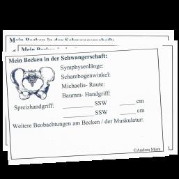"""Aufkleber """"Mein Becken in der Schwangerschaft"""" - 25 Stück"""